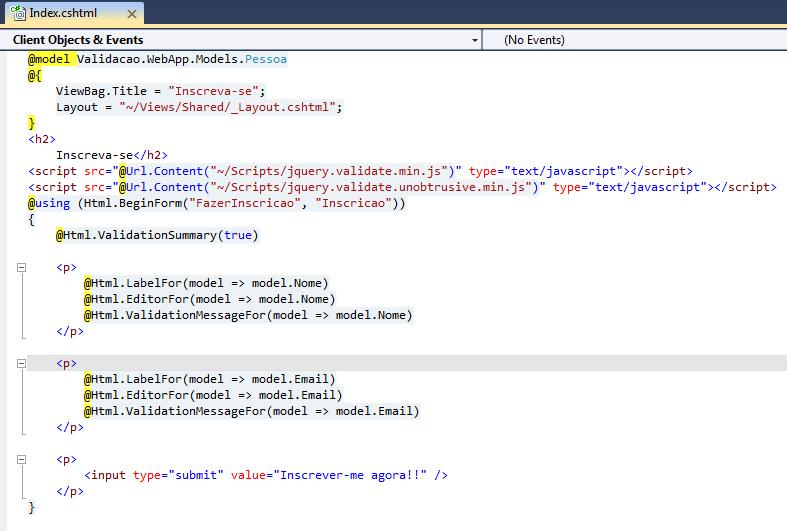 Validação de dados no ASP.NET MVC 3 (2/4)